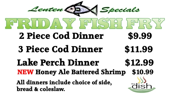 lenten specials friday fish fry